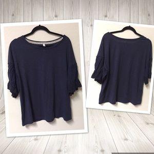 Xhilaration Flowy Loose top blouse sz XL